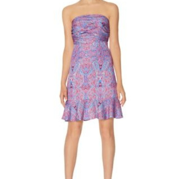 Outback Red Dresses & Skirts - Outback Red paisley print strapless dress